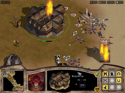 Here's a screenshot from Warlords Battlecry. A gruesome battle is underway.