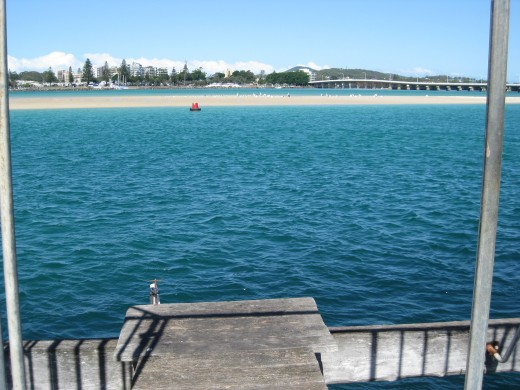 Looking at the Tuncurry-Forster Bridge NSW