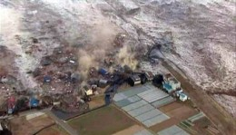 This is the rubble swept before the Mar. 11, 2011 tsunami now well inland.