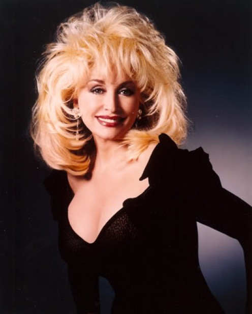 Dolly Parton by ShowPony1, source photobucket  - Dolly Parton is a great example of apple shape - How to Find the Perfect Little Black Dress for You, by Rosie2010
