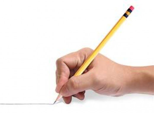 This is the proper way to hold a pencil.