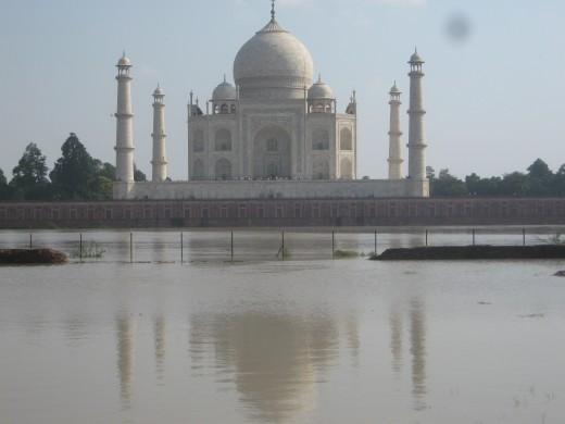 Tajmahal view across yamuna river