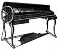 Glassharminica, a musical invention of Franklins