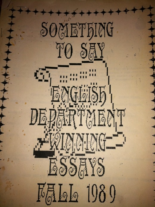 My 9th Grade Essay Contest Program 1989
