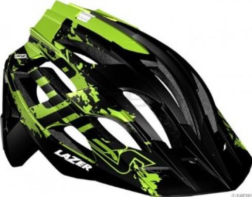 2012 Lazer Oasiz Lopes Edition Helmet: Black/Green.