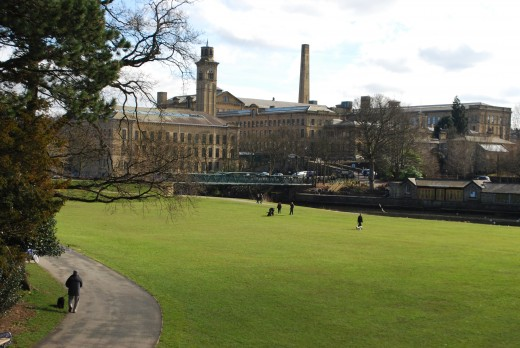 View of Saltaire from Roberts Park