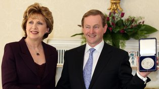 President Of Ireland Mary McAleese And Enda Kenny The New Taoiseach For Ireland 2011: