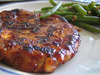 Pork Steaks with Glaze