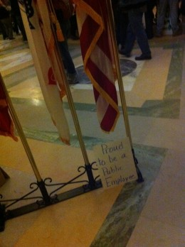 February 19, 2011, inside the Capitol.