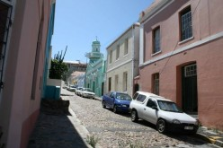 Historical old buildings in Cape Town: St Stephen's Church and the Bo-Kaap