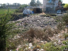 Land Grabbing first Stage,dump garbage and leave it to fill up the land.