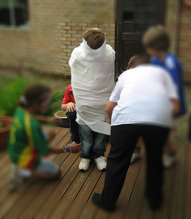 Wrapping someone up in toilet roll like a mummy always brings some laughs!