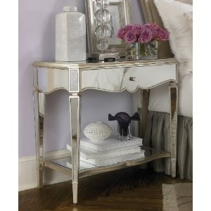 Mirrored Night Stand-Silver Leaf by American Drew
