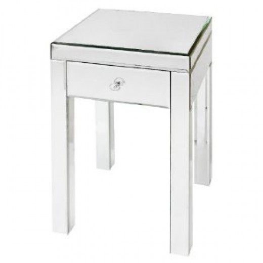 Glass Accent Table - 25.25""