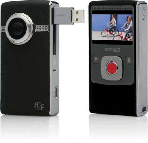 Flip camera camcorder.