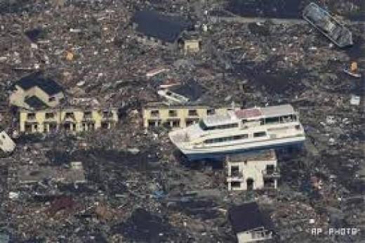 japans earthquake disaster.