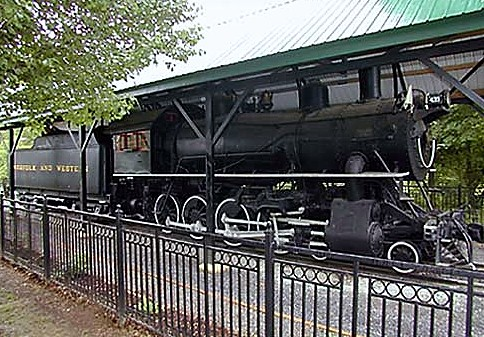 the original Virginia Creeper Locomotive