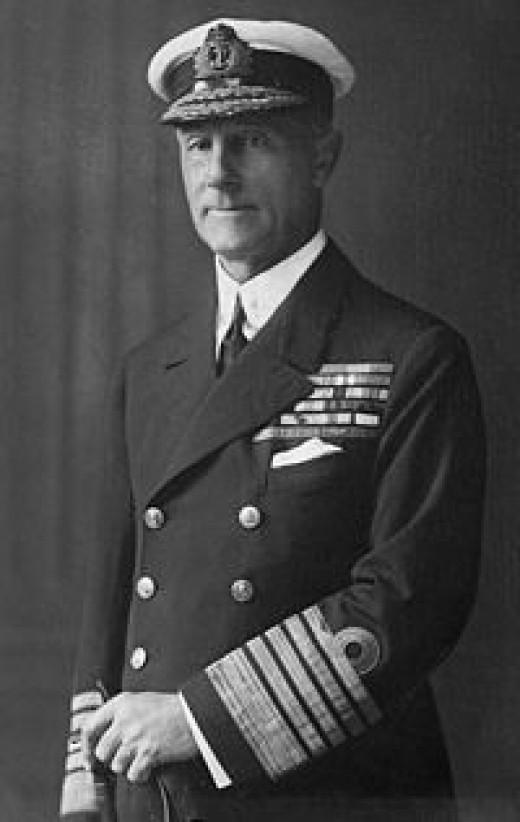 Lord Jellico, a British admiral of Word War One.   Man could develop a big bicep just lifting old that braid.