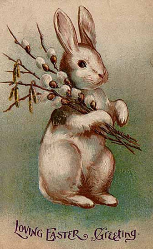 Easter postcard circa early 20th century by Its Lassie Time