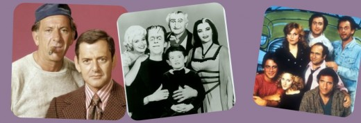 Some of the great sitcoms of the past. The Odd Couple, The Munsters and Taxi.