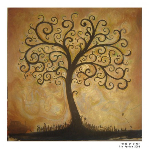 This is the Tree of Life...we start off as a bud and then sprout, and grow into a Tree.