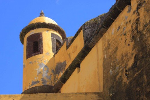 A turret at Sao Tiago Fort
