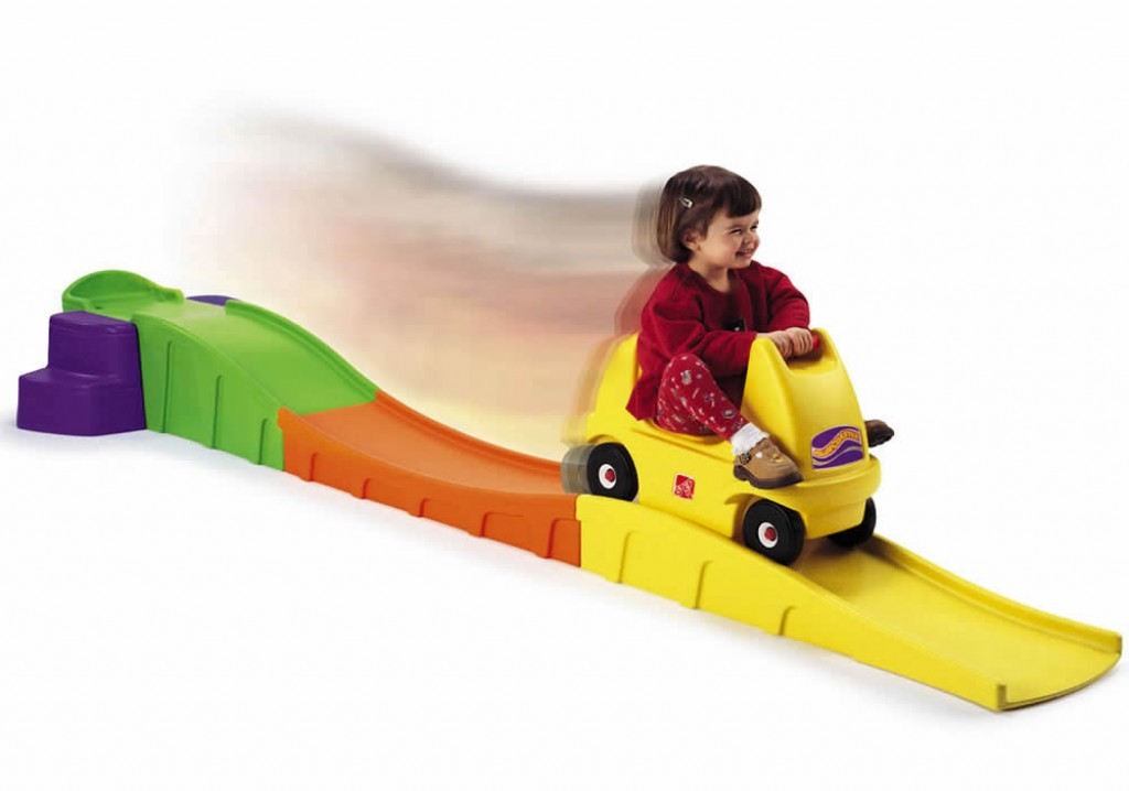 The Anniversary Edition Up & Down Roller Coaster by Step2 will give kids all the thrills of having their very own roller coaster. Little ones will develop balance, coordination, and gross motor skills Price: $