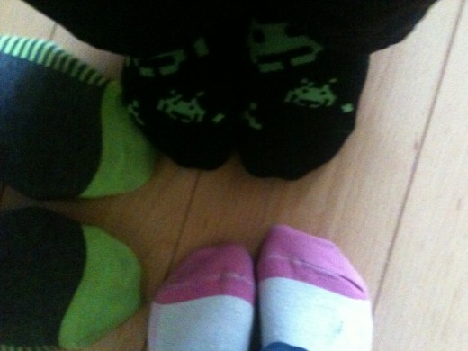 socks snug on our feet