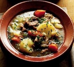 Irish stew in a crock pot