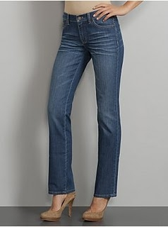 Nice blue jeans that are a little too short - but if you know how to wear them then you will be rockin' your jeans too.