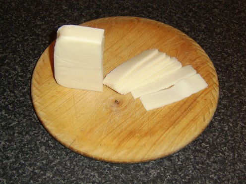 Slicing the Mozzarella Cheese