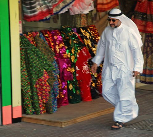 Dubai man in national dress
