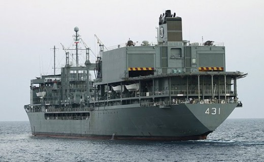Iran's Kharg supply ship