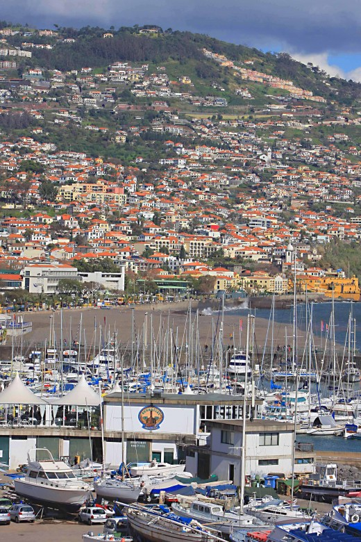 Funchal Town - the harbour and the surrounding countryside are features of this picturesque Madeiran town