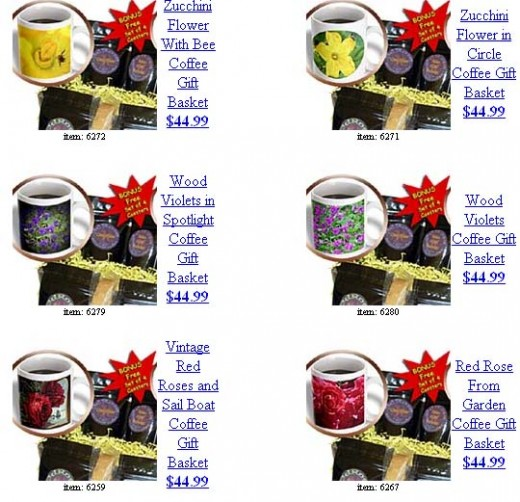 This is one of the many unique product styles of coffee gift baskets located under Sandy Mertens on 3DROSe.com. Enjoy a delicious mug of gourmet coffee with these beautiful custom products. Personalized message digitally added to the image prior to s