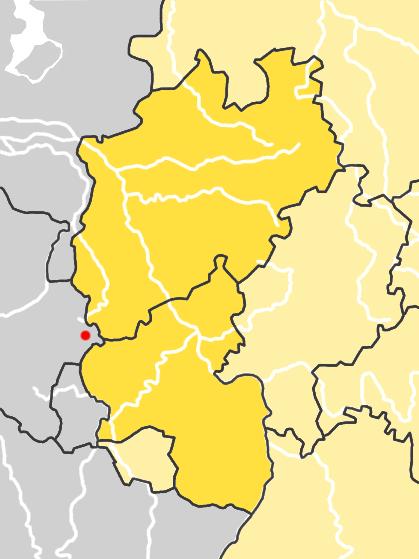 Map location of St. Vith, Belgium