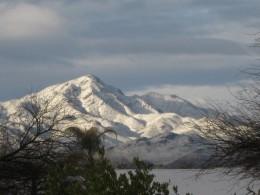 Snow covered Mt. Lemon in the Santa Catalina Mountains above Tucson, Arizona