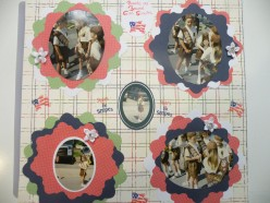 A Cricut Machine Fun and Simple Scrapbook Layout