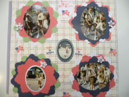 Memorial Day Parade Scrapbook Layout