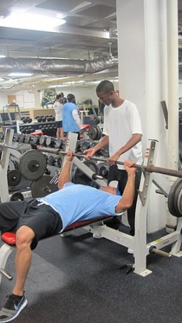 Importance of spotting while weight training
