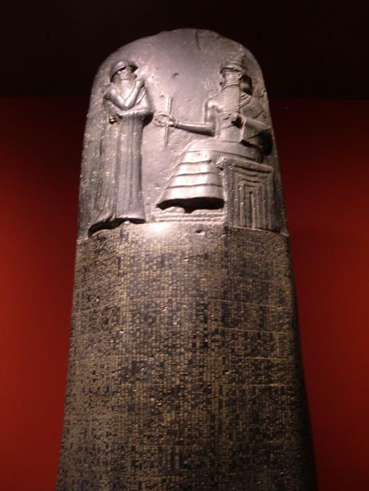 A Replica of Hammurabi's Stele
