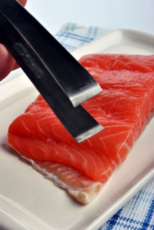 A slice of salmon