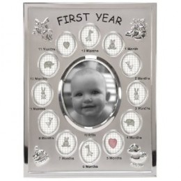 Baby's First Year Collage Picture Frame