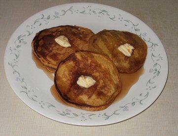 Delicious homemade pumpkin pancakes