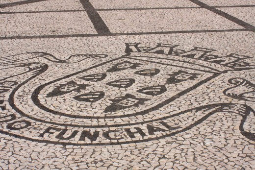 Many of the streets of Funchal are decoratively tiled in black and white in various designs. I seem to have taken lots of photos of these. Sad aren't I?