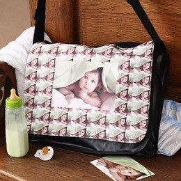 Photo Collage Personalized Messenger Bag