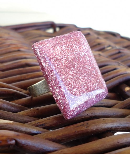 Large Square Resin Ring