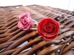 Medium sized Play Doh rose rings