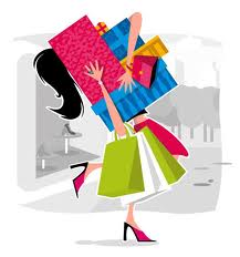 Cut out unnecessary shopping...and if she's got your card then get it back!