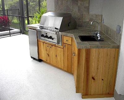 If your area is a bit smaller, this grill, refrigerator, and sink combo will do just fine.